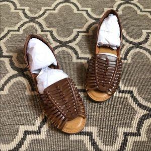 MIA Shoes - MIA Cognac Weaved Open Toe Slip On Sandal NWT